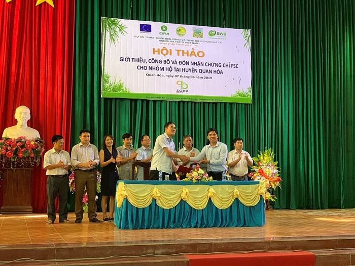 BWG and 545 farmers in Quan Hoa have got the FSC certificate for bamboo in Vietnam