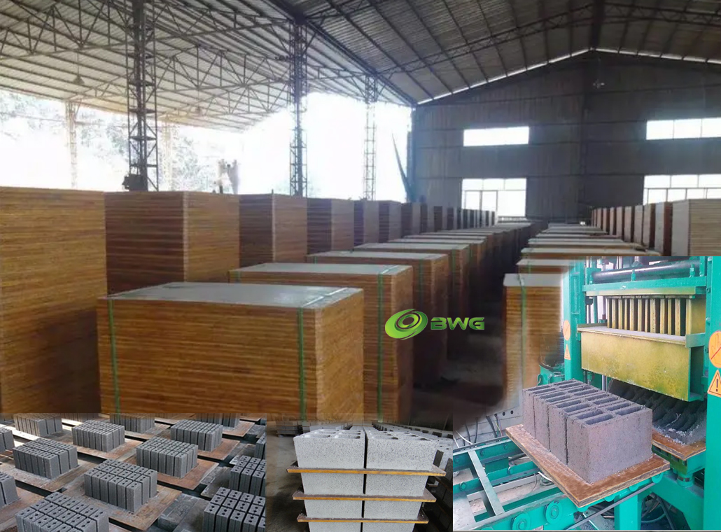 Strand woven bamboo pallets for brick/block making machine - Vietnam