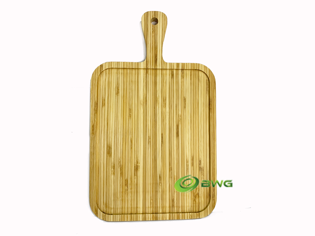 Bamboo Serving Board with Handle CB45 - Vietnam