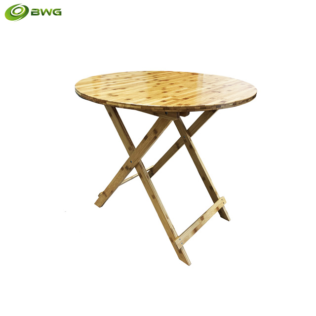 Round Bamboo Folding Table from Vietnam