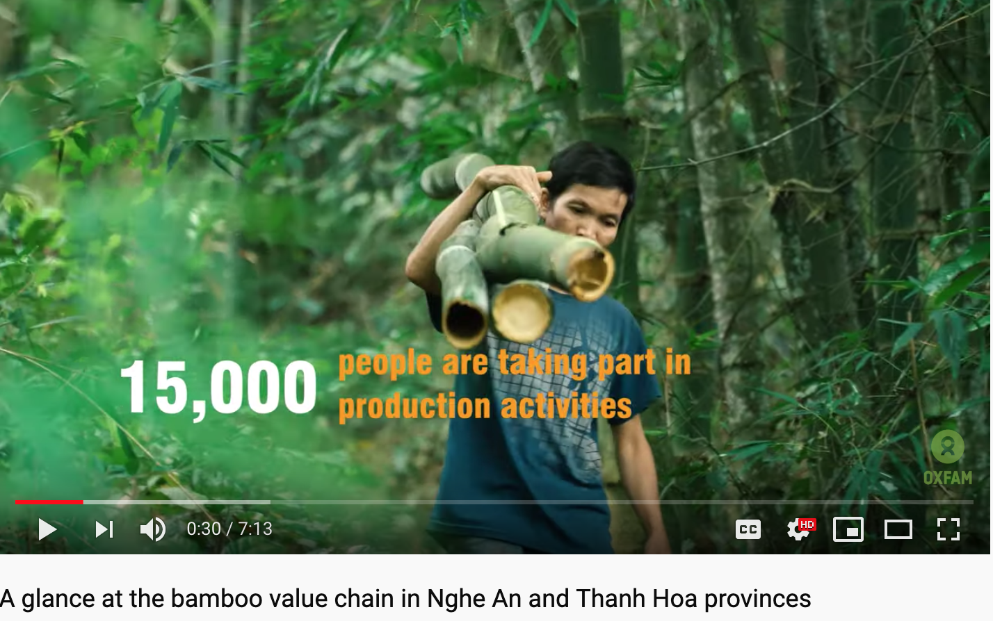 Oxfam video: A glance at the bamboo value chain in Nghe An and Thanh Hoa provinces