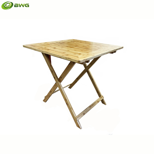 Square Bamboo Folding Table from Vietnam