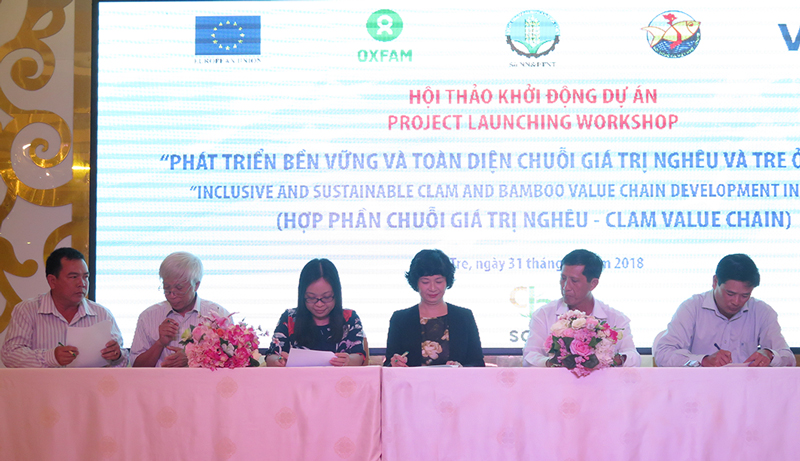 Fostering Inclusive, Sustainable Development of Clam and Bamboo Value Chains in Vietnam