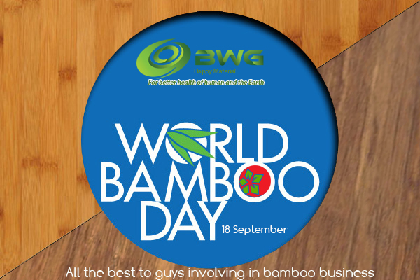 Best wishes on World Bamboo Day 18 September