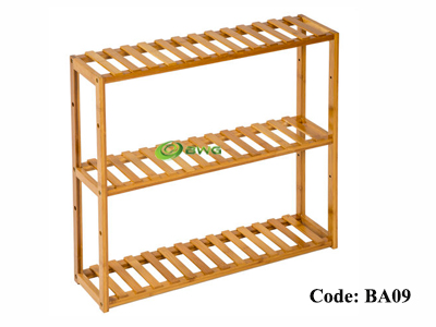 Bamboo Bathroom Shelf 3-Tier Multifunctional Adjustable Layer Rack Wall Mounted Utility Storage Organizer