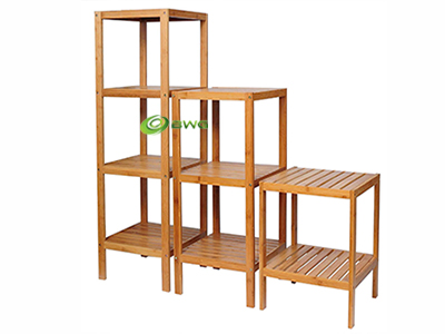 Bamboo Bathroom Shelf 2-Tier, 3-Tier, 4-Tier Tower Free Standing Rack Multifunctional Storage Organizer
