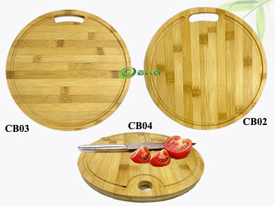 Vietnam Round Bamboo Cutting Boards