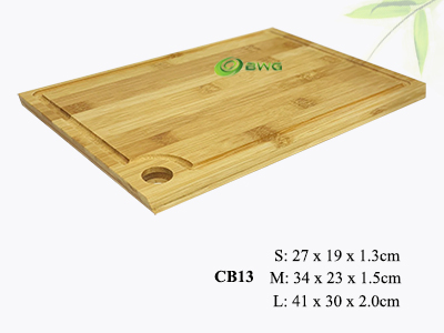 New Easy To Grip Slanted Edges Bamboo Cutting Boards Vietnam