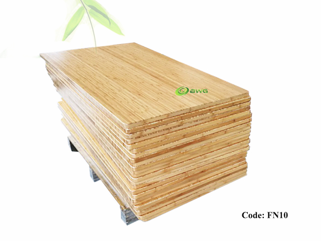 Solid Rectangular Bamboo Table Top Desktop - Vietnam