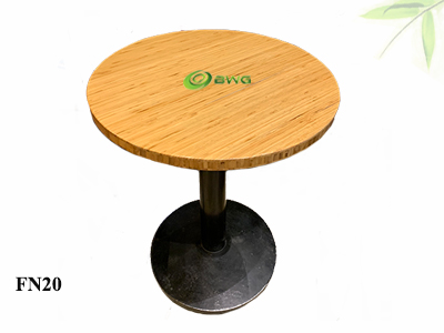 Eco-friendly Bamboo Round Coffee Cafe Table Tops from Vietnam